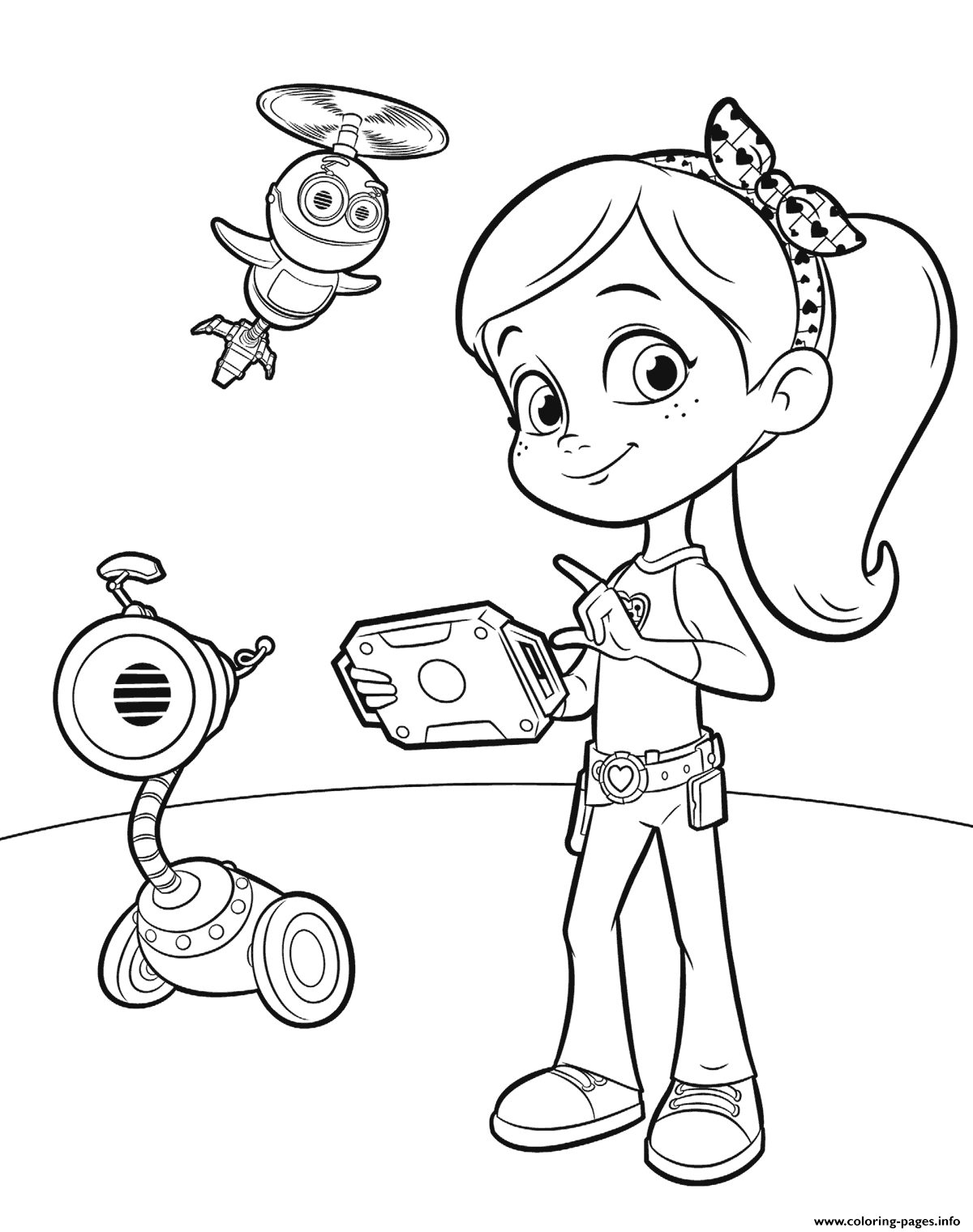 Rusty Rivets For Girls Coloring Pages Printable
