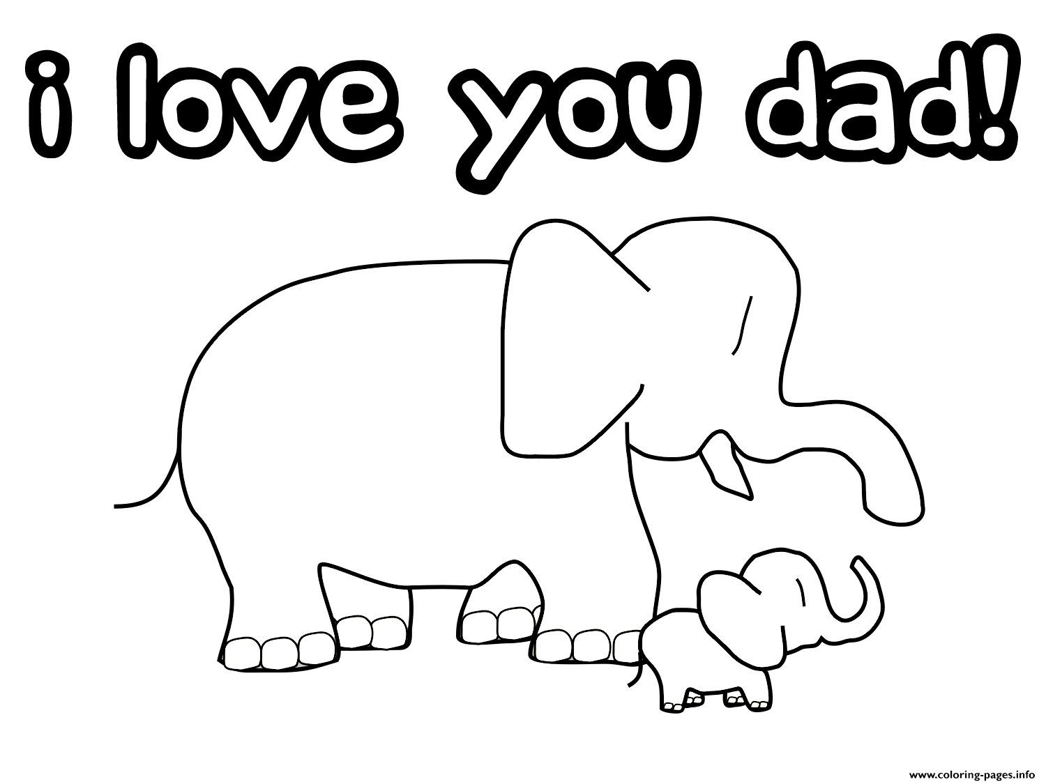 I Love You Dad Coloring Pages Printable