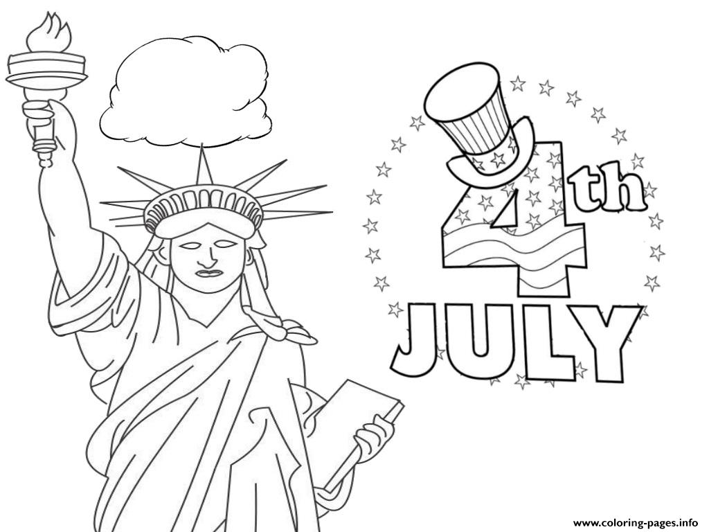 Fourth July America Coloring Pages Printable