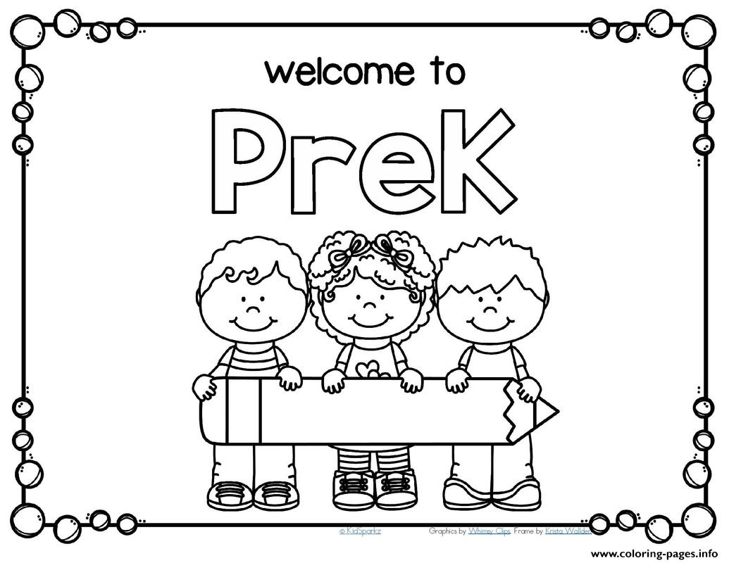 Practical Back To School For Preschool Coloring Pages