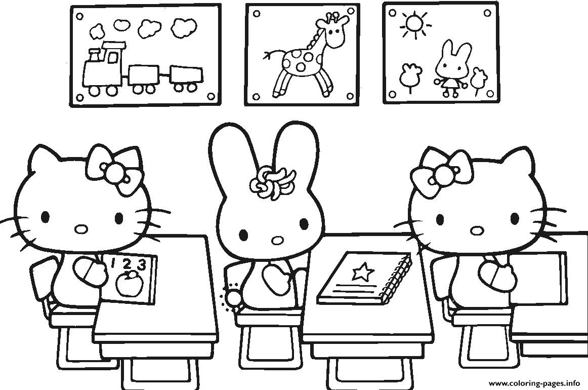 Back To School Preschool First Day Coloring Pages Printable