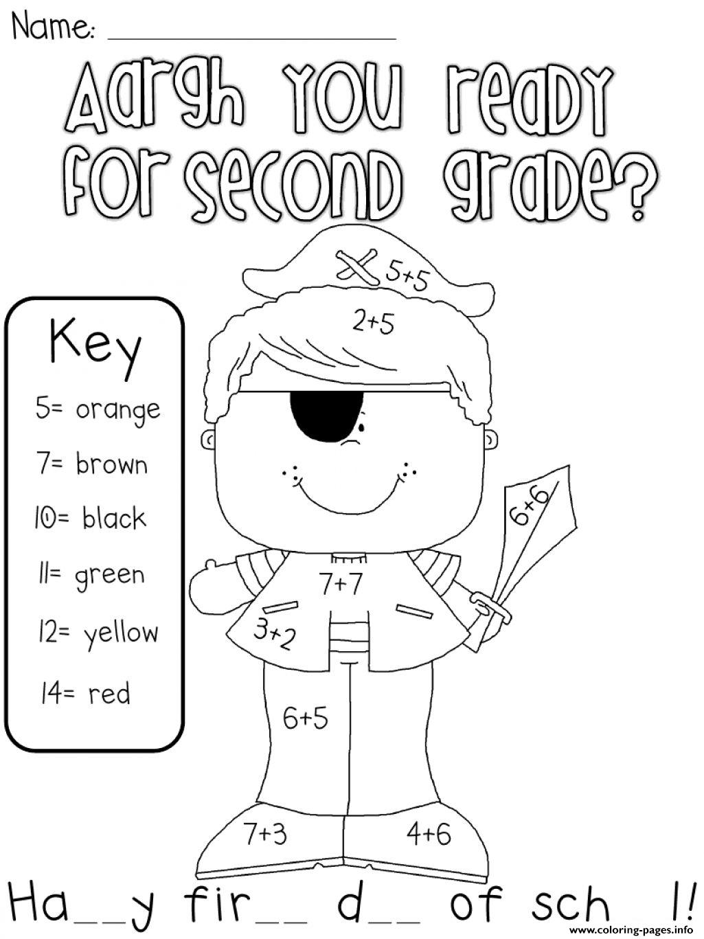 Are You Ready For Second Grade Coloring Pages Printable