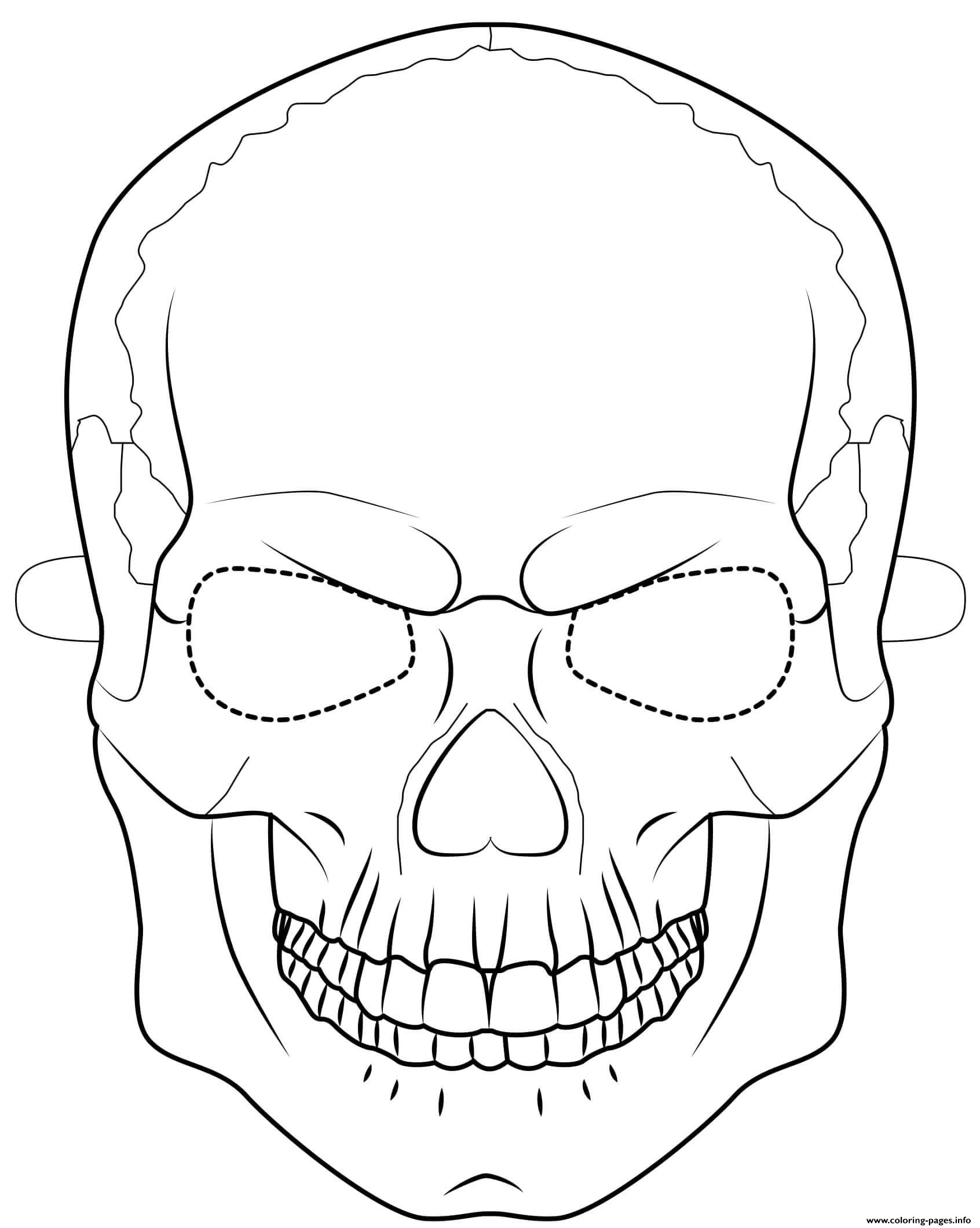 Halloween Mask Coloring Sheets Coloring Pages
