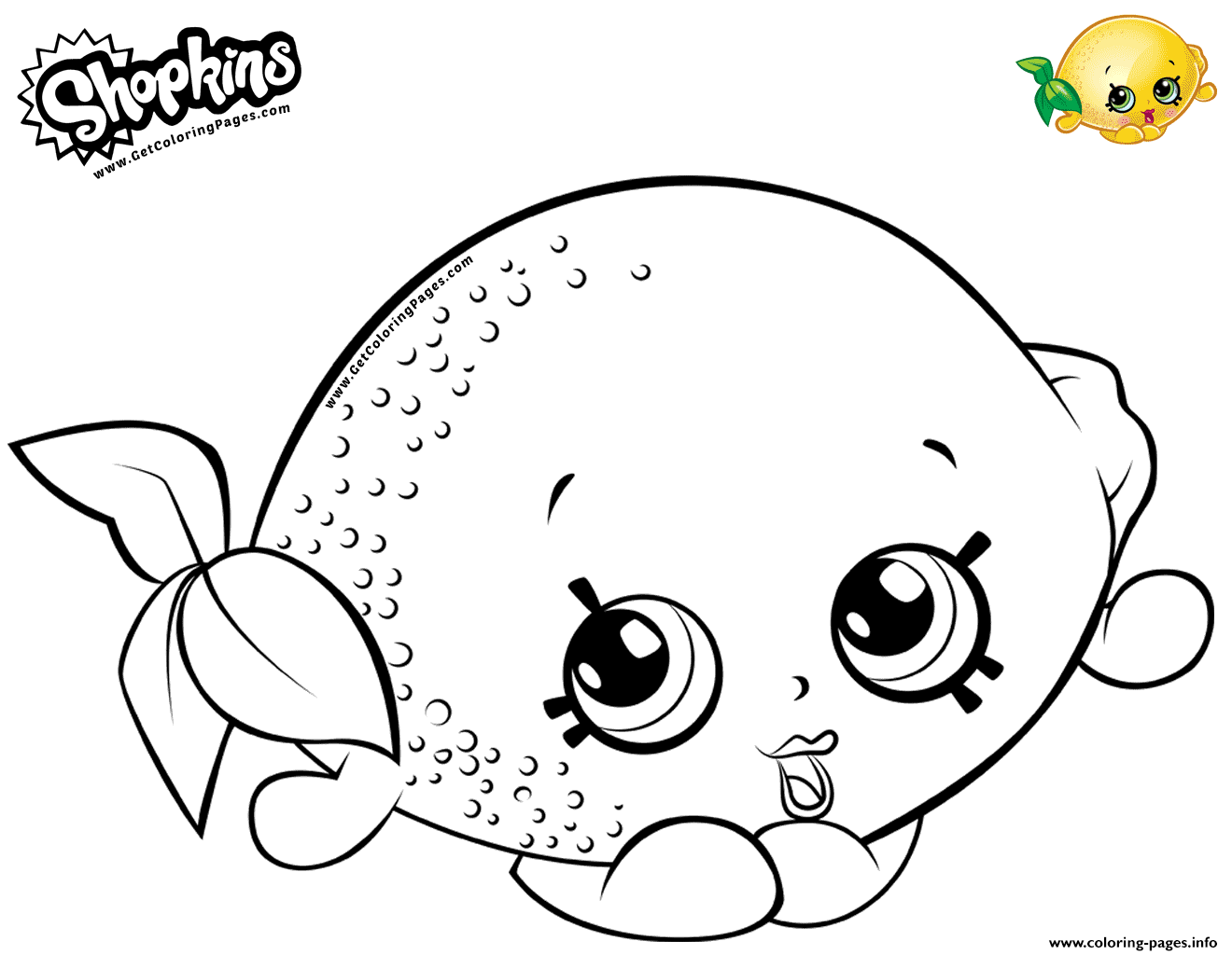 Cartoon Lemon Toy Coloring Pages Printable