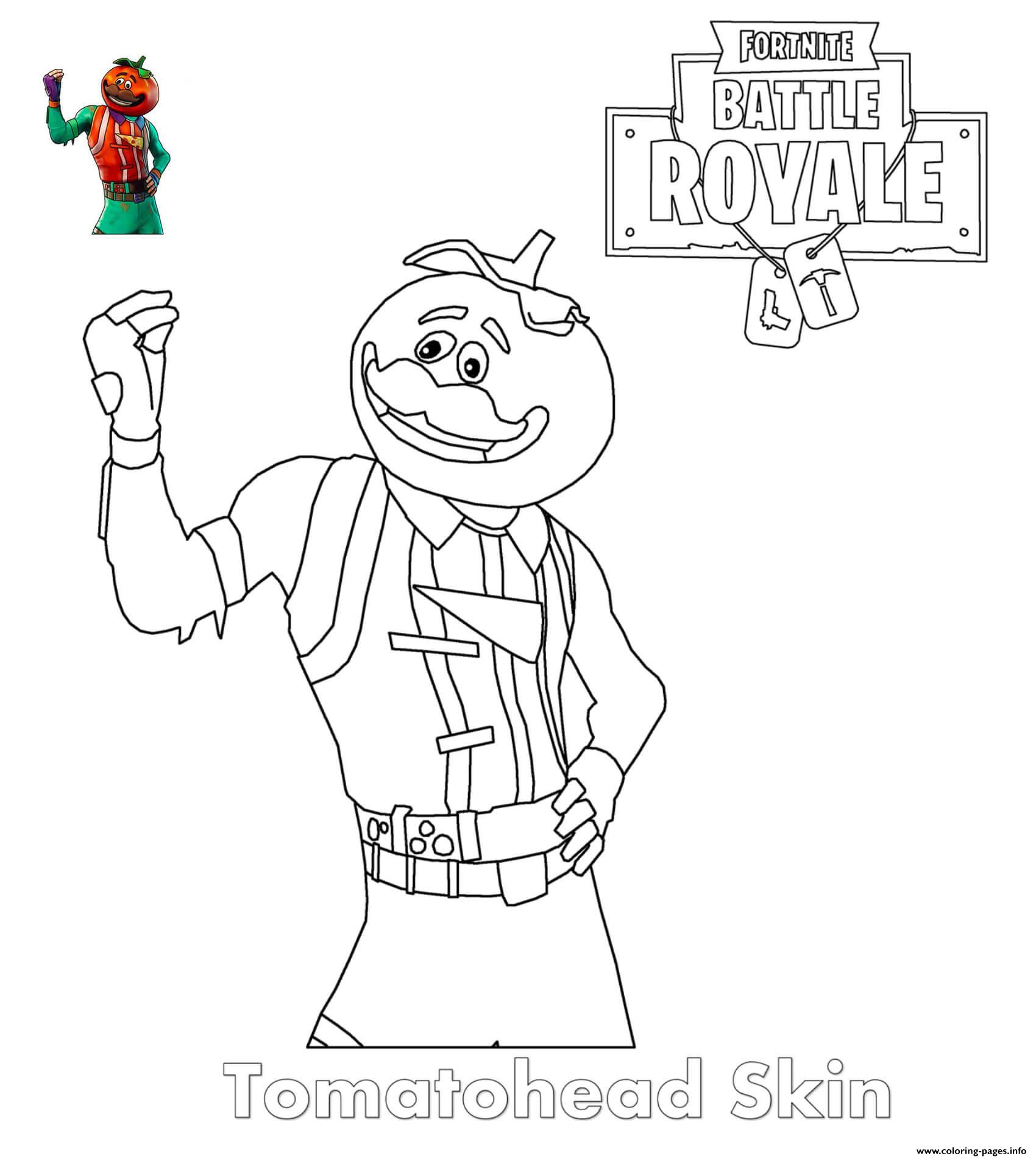 Coloring Pages Of Fortnite Skins