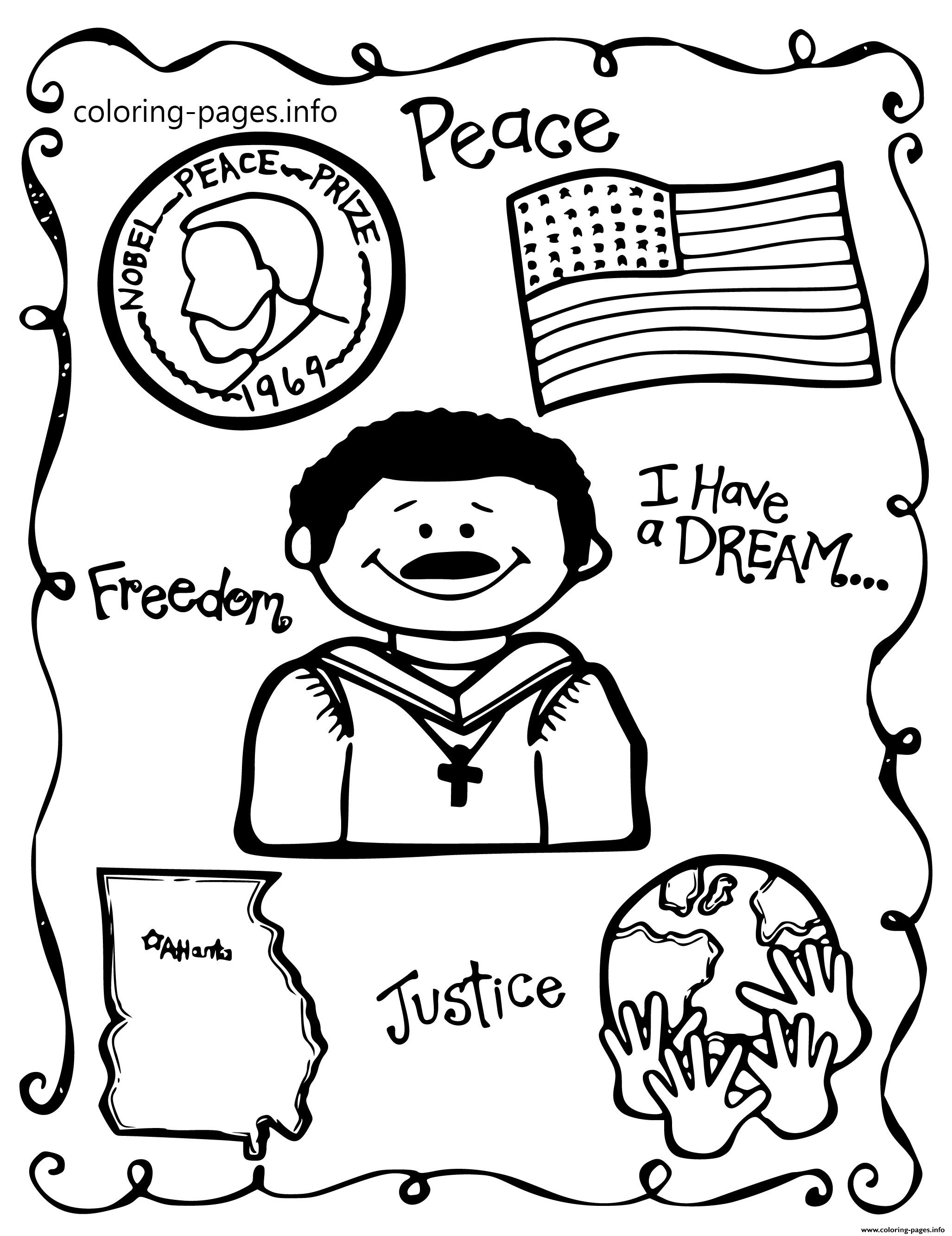 Martin Luther King Day School Themes Peace Freedom