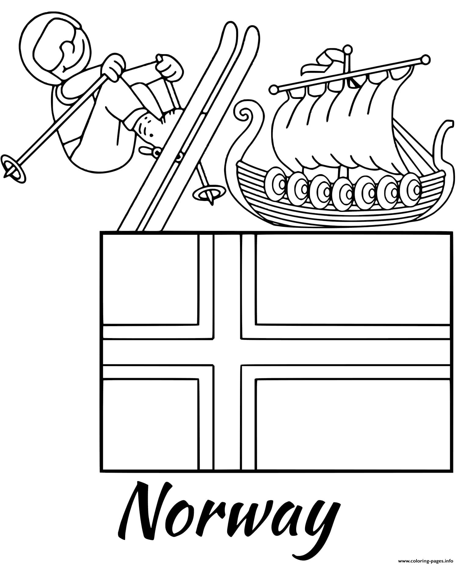 Switzerland Flag Coloring Pages
