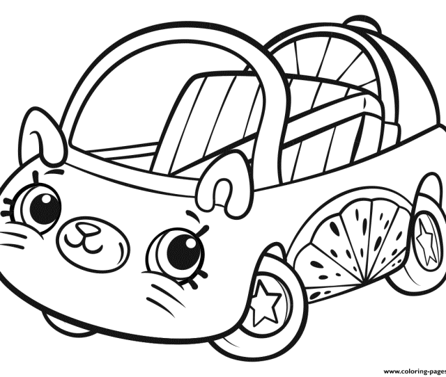 Cutie Cars Shopkins Coloring Pages Printable