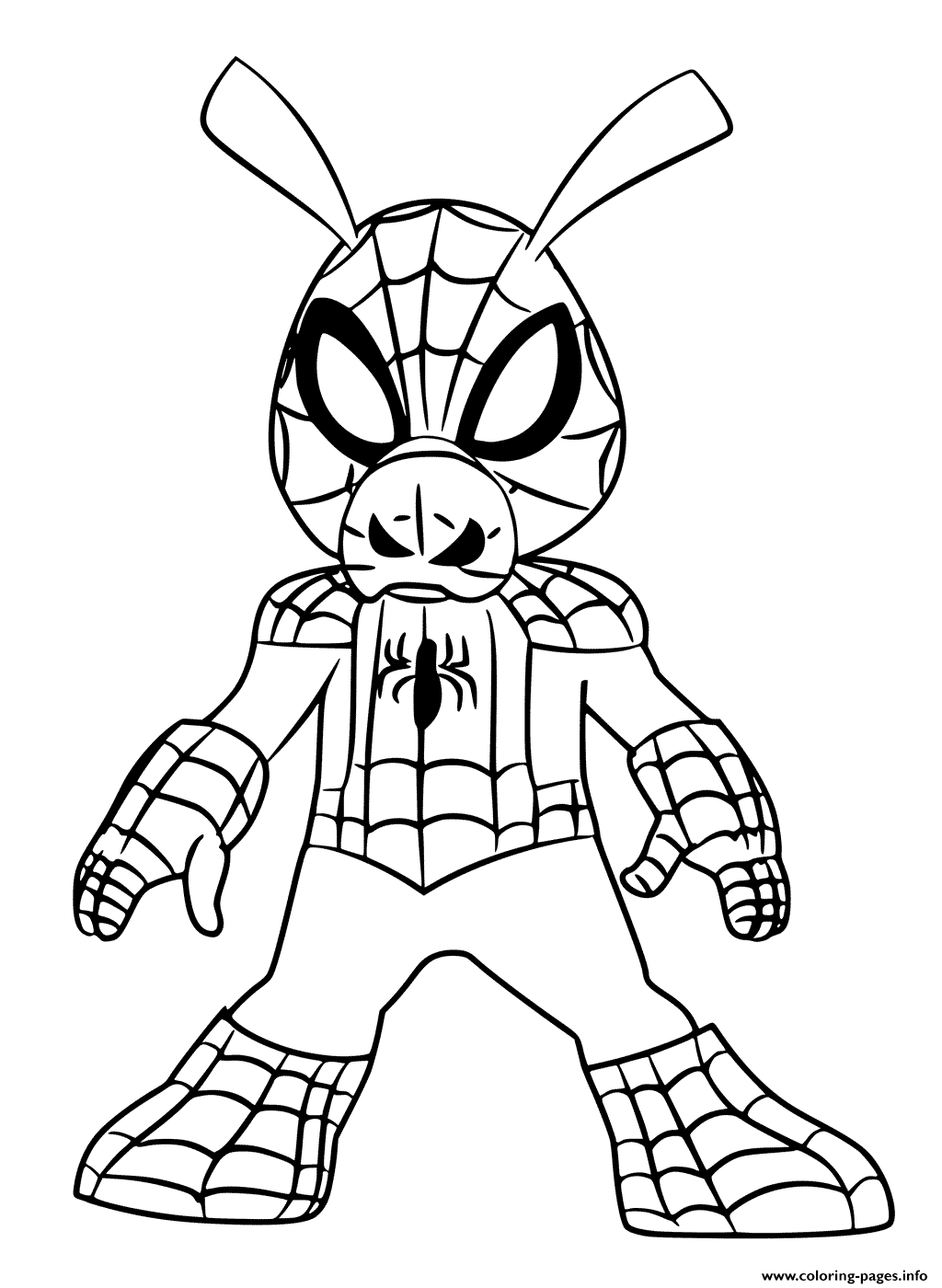 Spider Ham Coloring Pages Printable