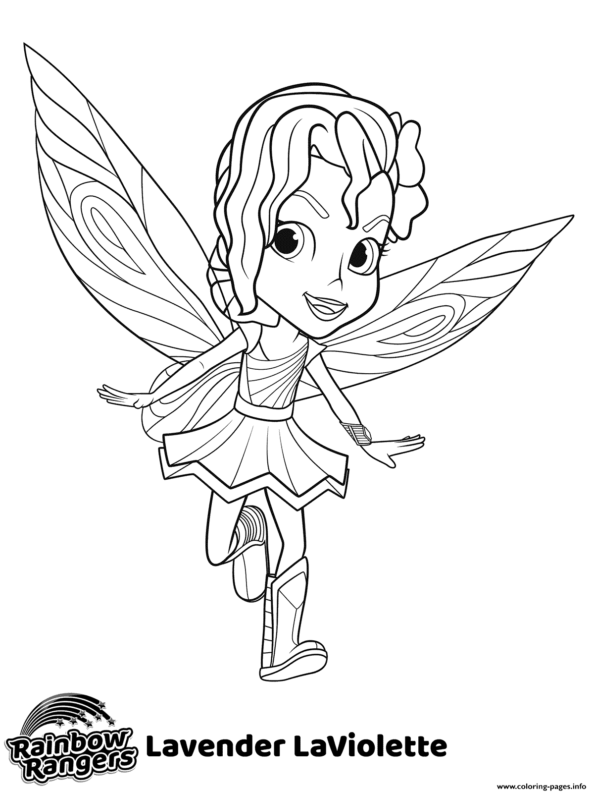Little Fairy Rainbow Rangers Coloring Pages Printable