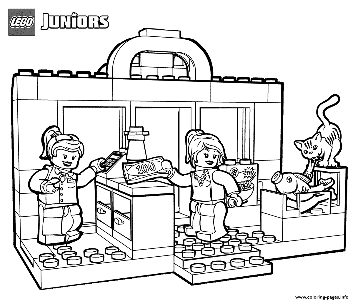 Lego Shopping Coloring Pages Printable