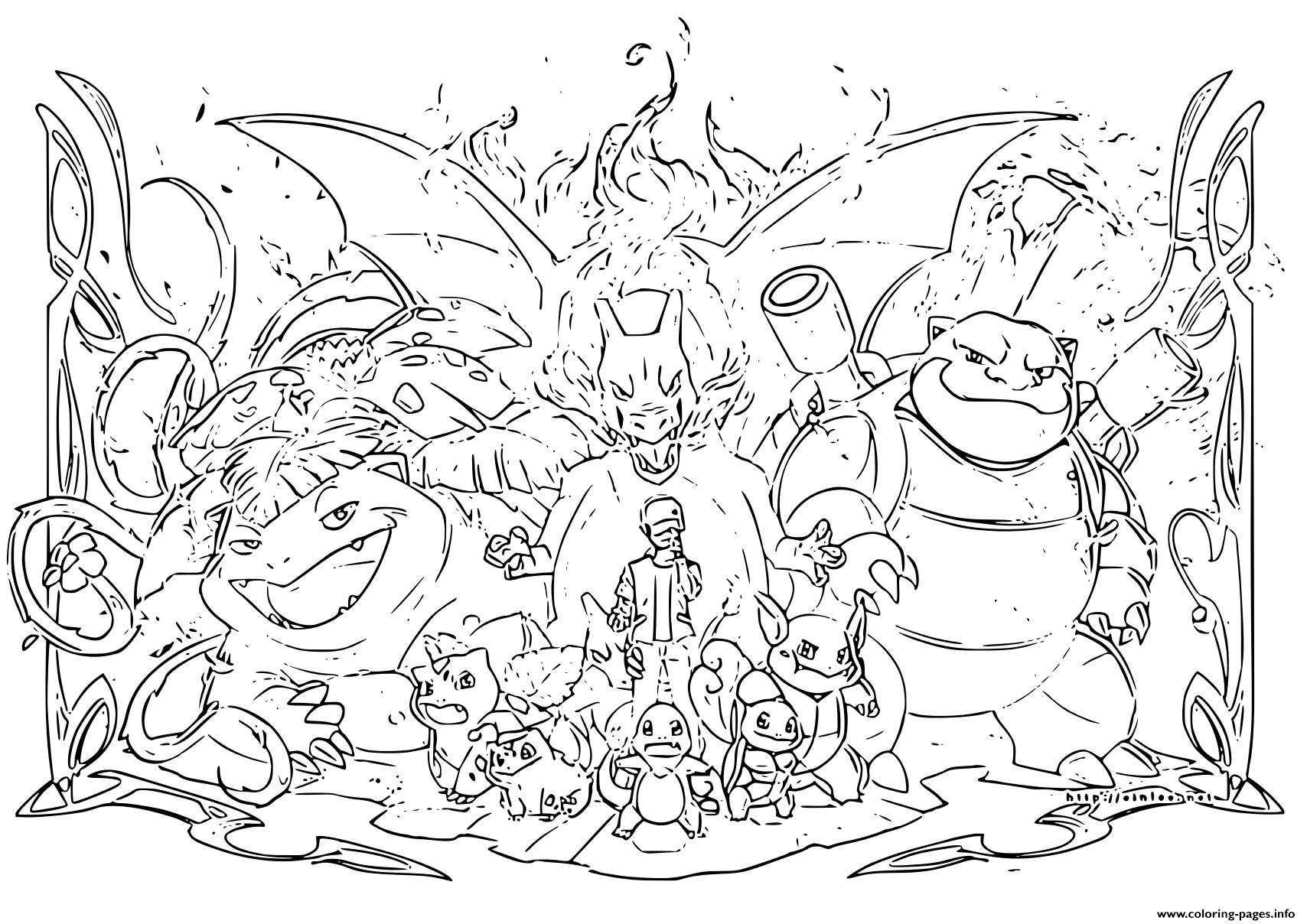 Pokemon Evolution 2019 Coloring Pages Printable