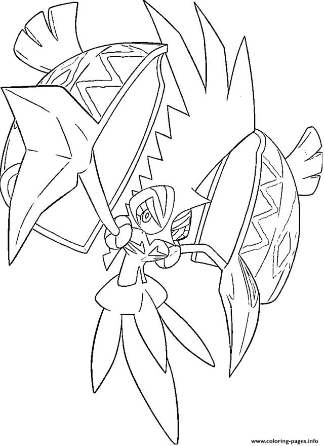Tokorico Pokemon Legendary Generation 23 Coloring Pages Printable