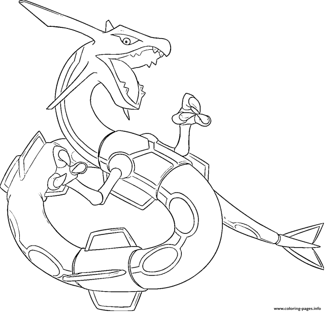 Rayquaza Generation 9 Coloring Pages Printable