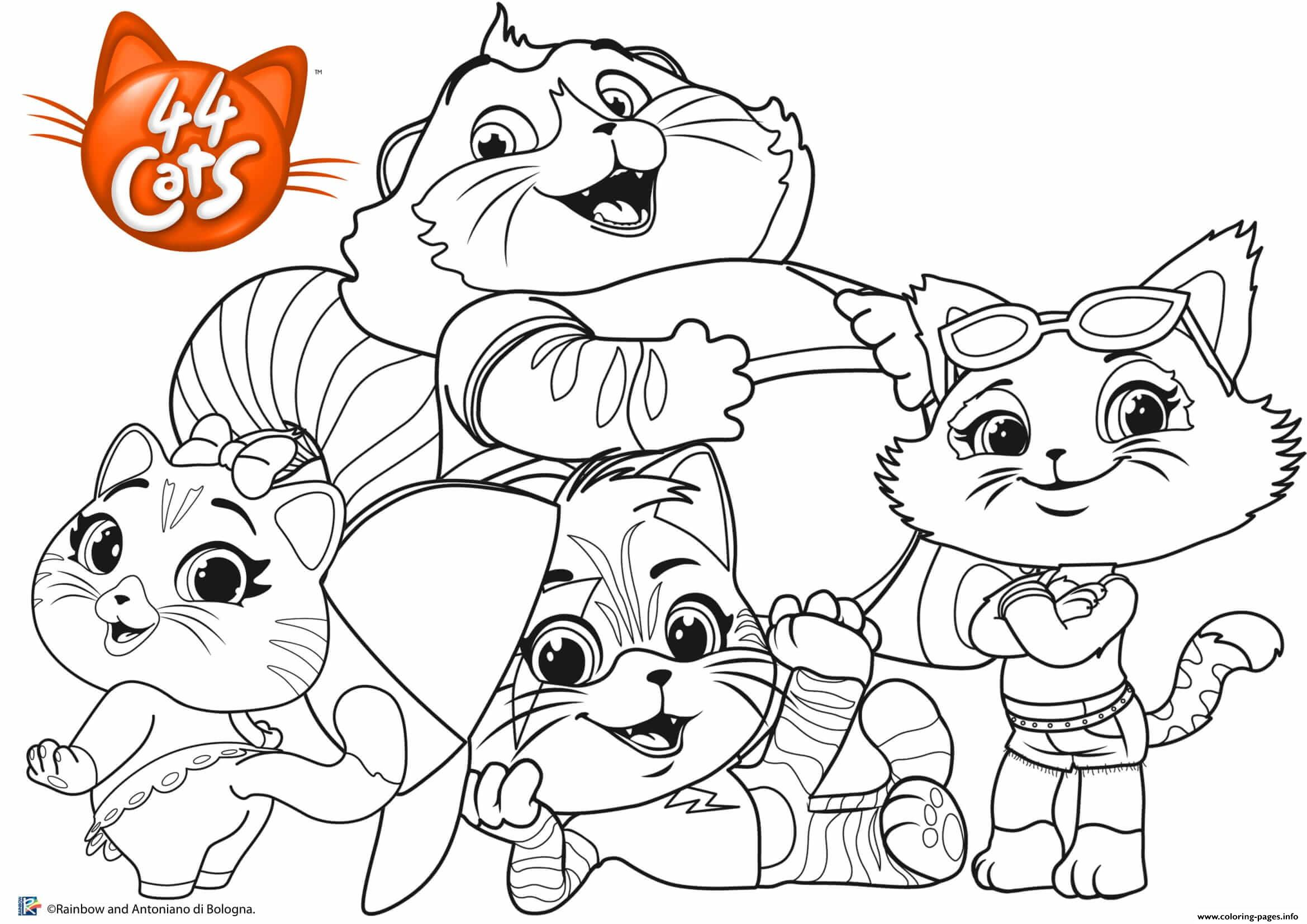 Buffycats 44cats Family Coloring Pages Printable
