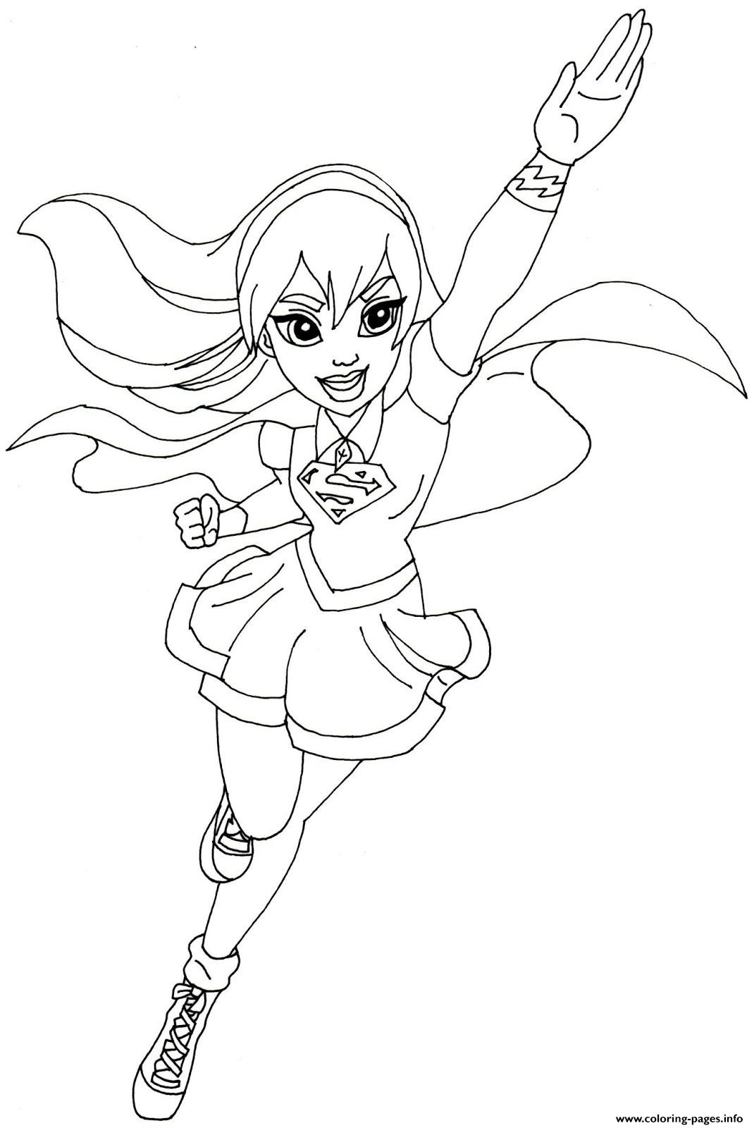 Supergirl Dc Super Hero Girls Coloring Pages Printable