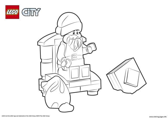 Lego City Santa Claus Coloring Pages Printable