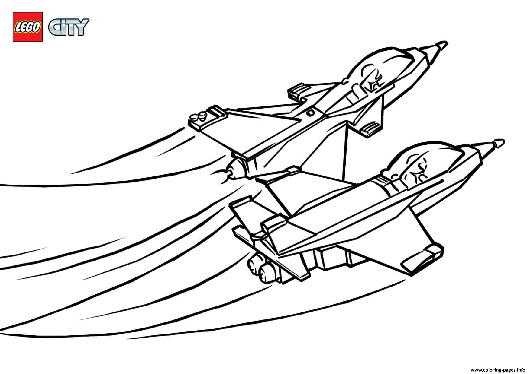Lego City Jet Airport Coloring Pages Printable