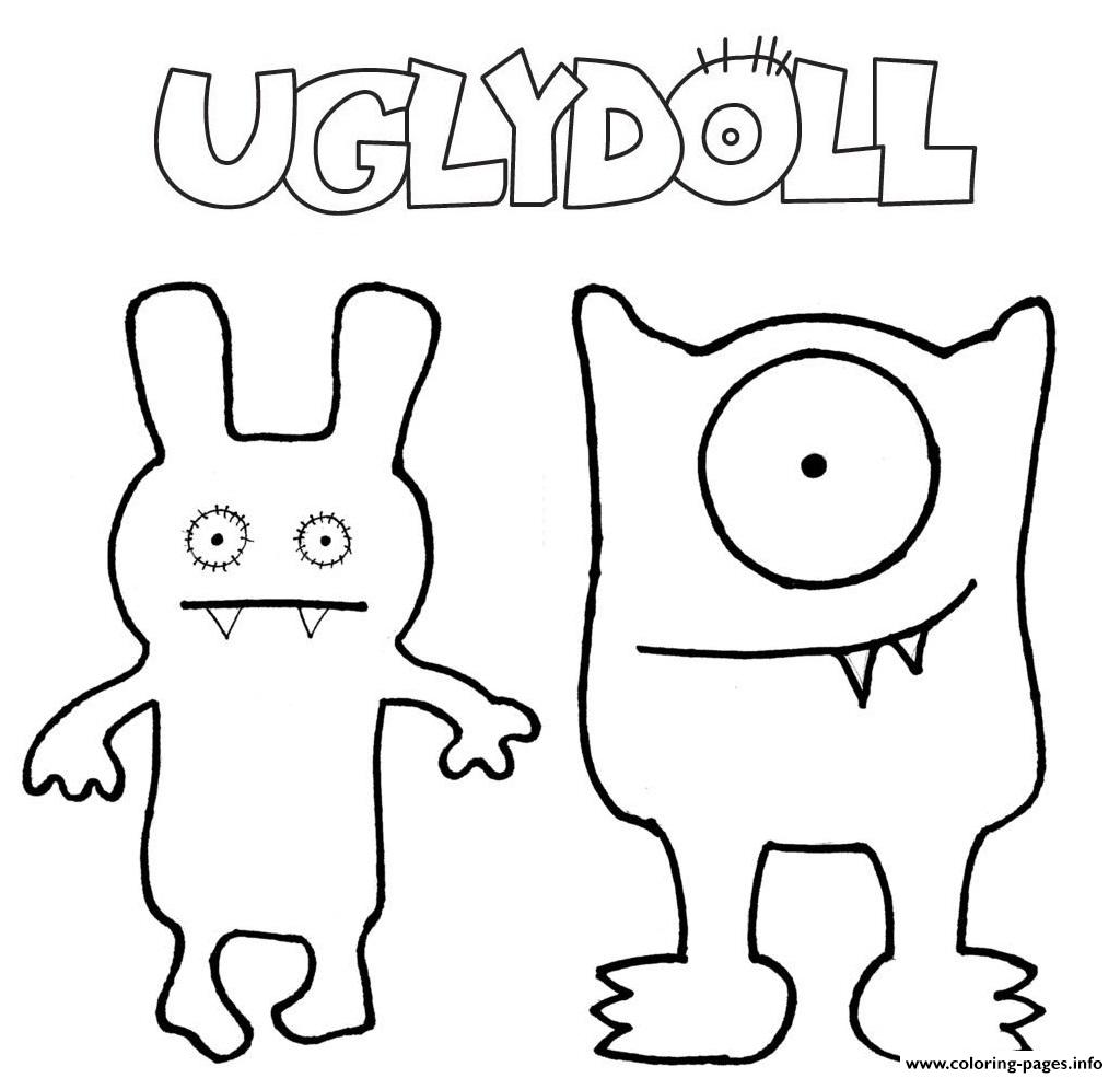Ugly Dolls Comedy Movie Coloring Pages Printable