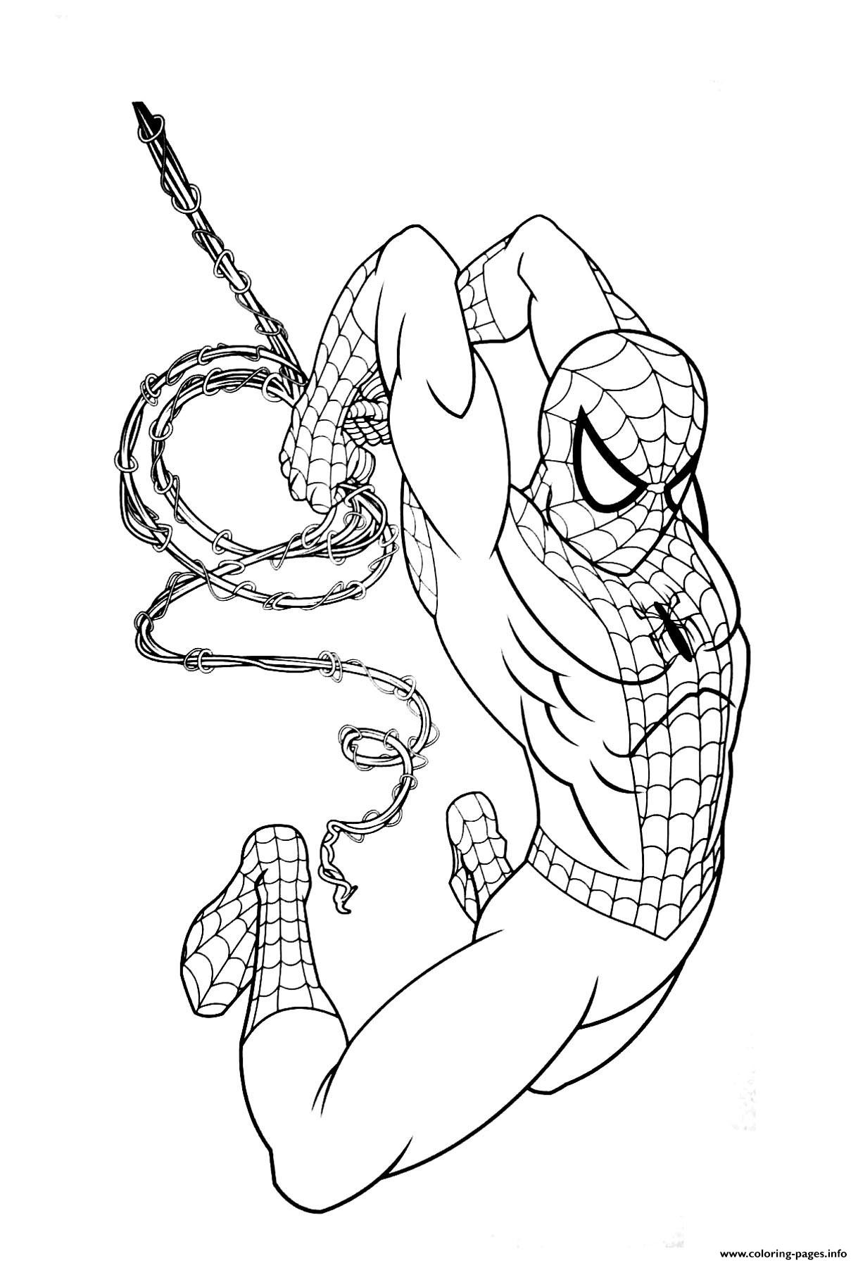 Avengers Endgame Spiderman Coloring Pages Printable