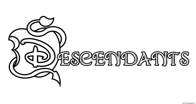The Descendants 24 Logo Coloring Pages Printable