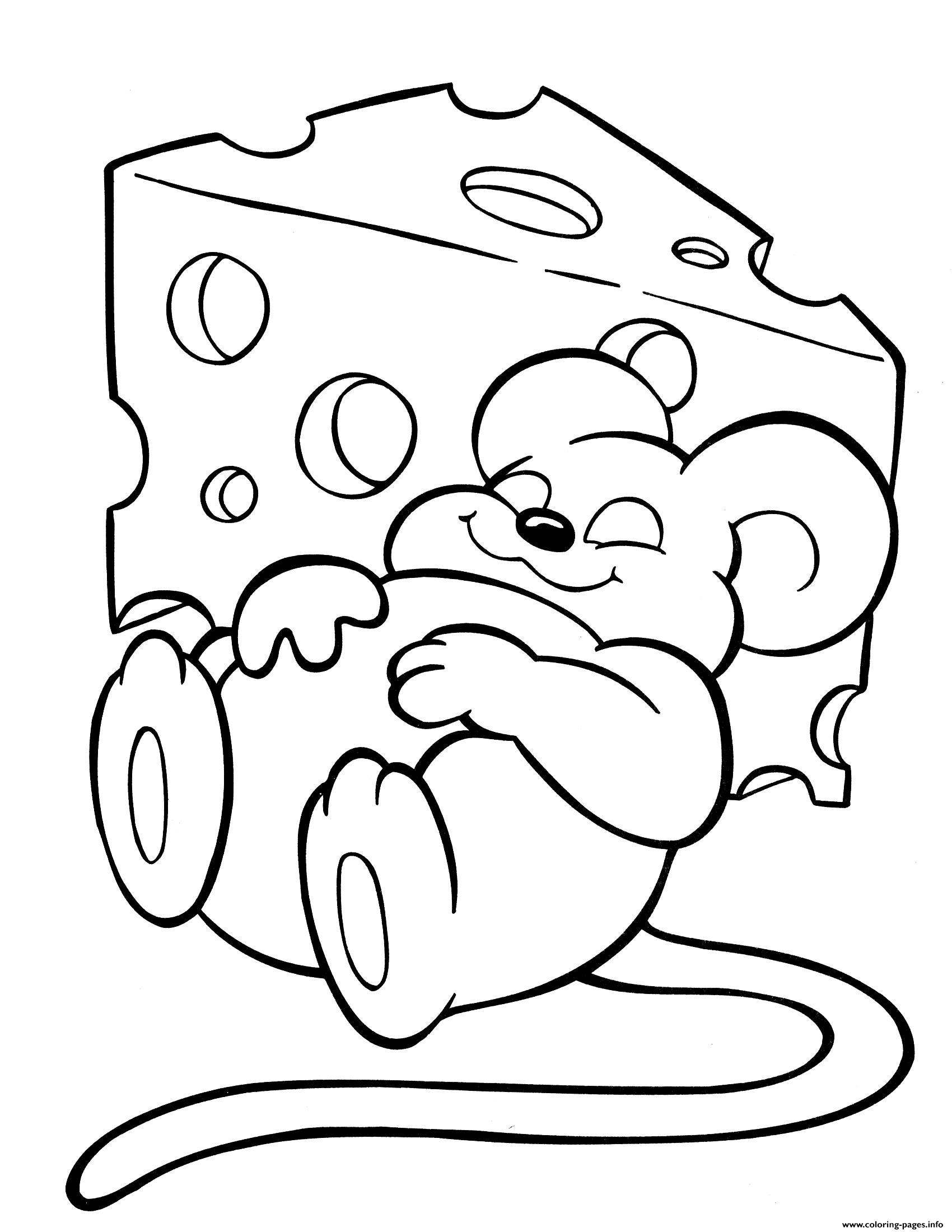 Crayola Mouse Love Cheese Coloring Pages Printable