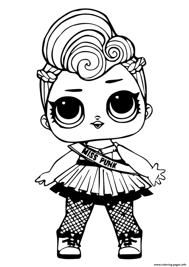 Lol Doll Miss Punk Coloring Pages Printable