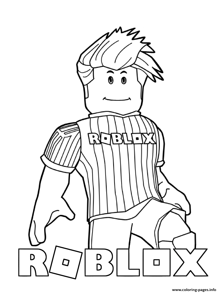 Roblox Loves Soccer Coloring Pages Printable