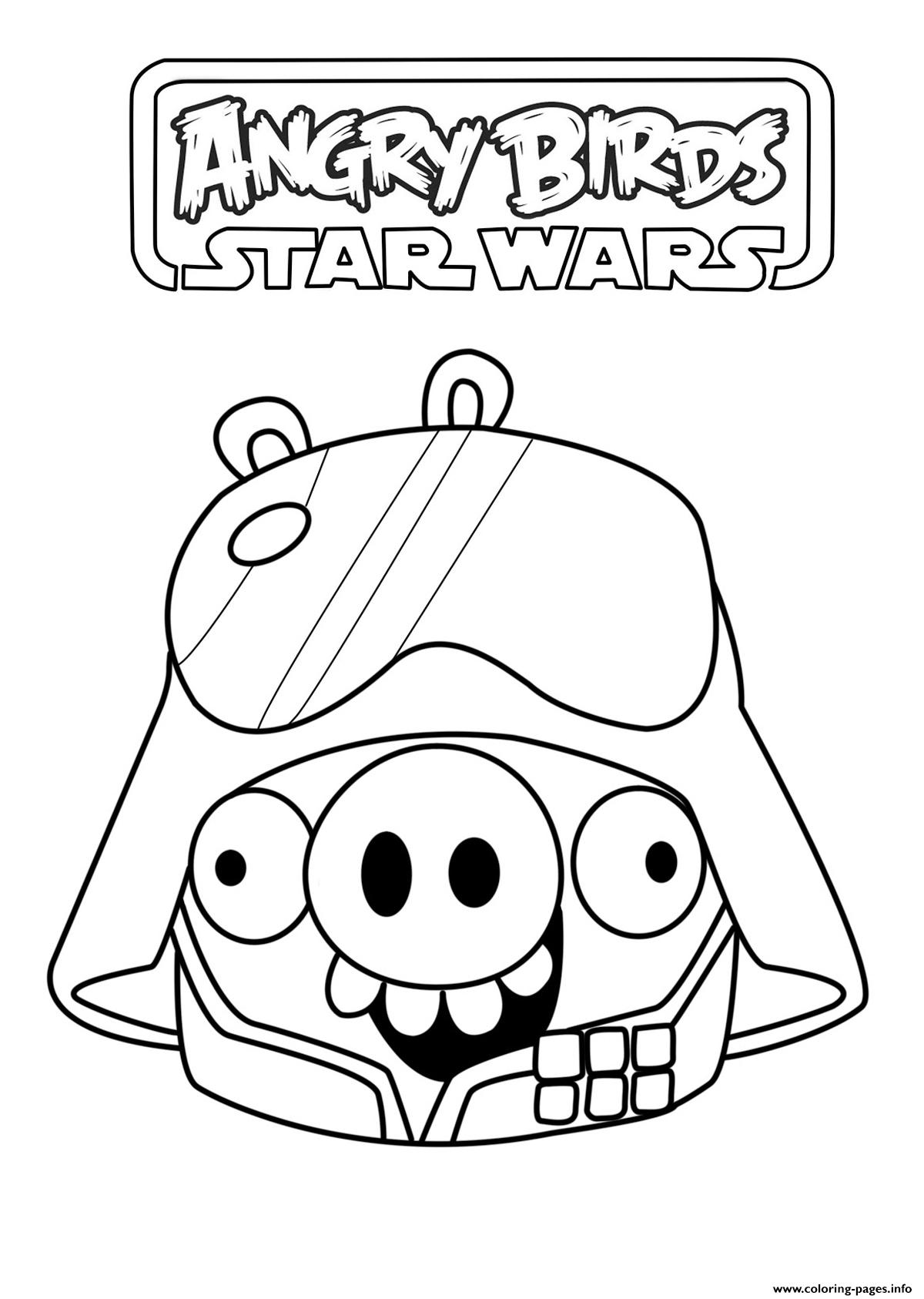 Angry Birds Star Wars Pig Stormtrooper Sol R Coloring