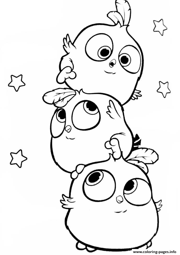 angry birds hatchlings the blues coloring pages printable