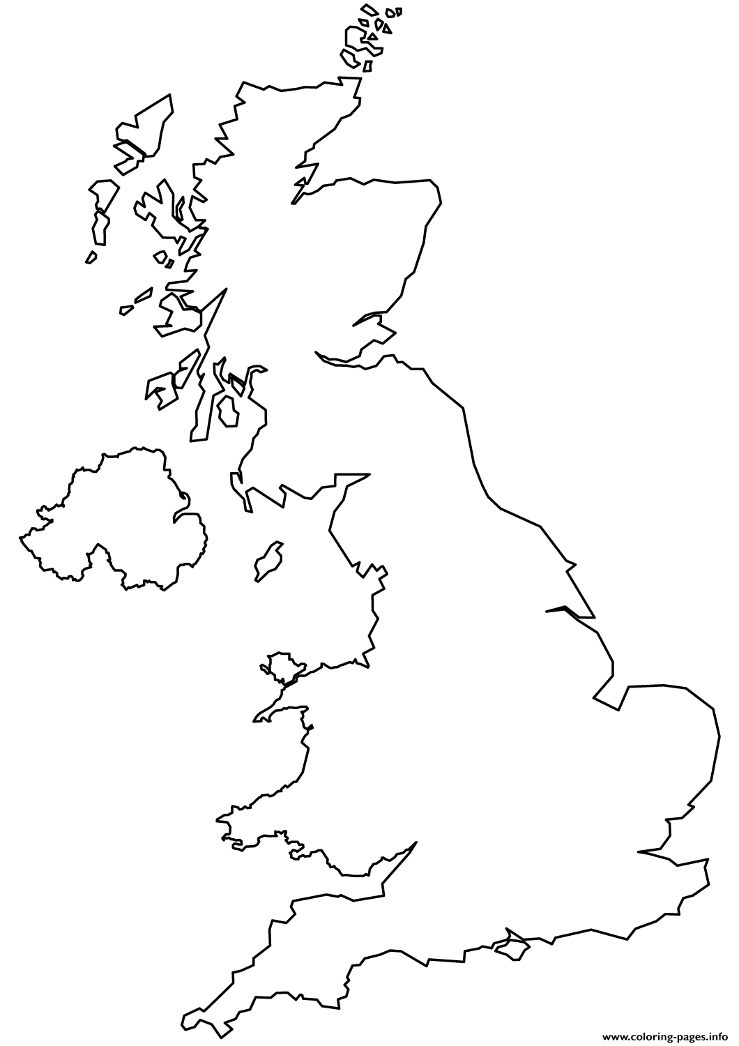 United Kingdom Map Coloring Pages