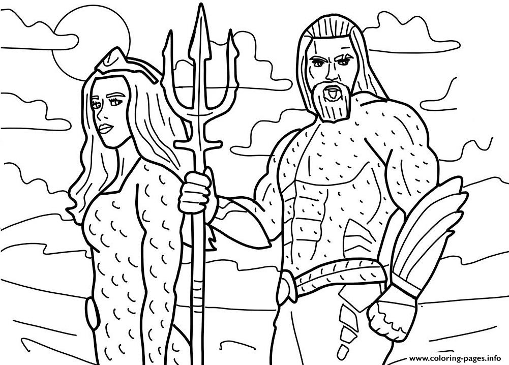Aquaman Superhero Dc Comics Coloring Pages Printable