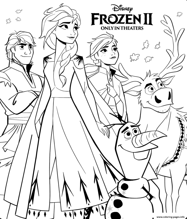 Disney Frozen 8 Coloring Pages Printable