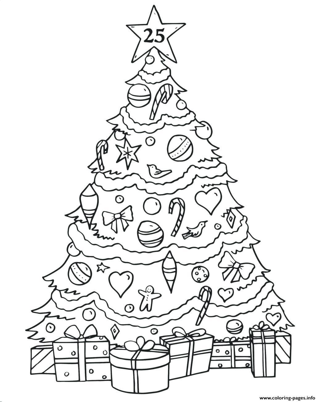 Phenomenal Christmas Tree Ts Coloring Pages Printable