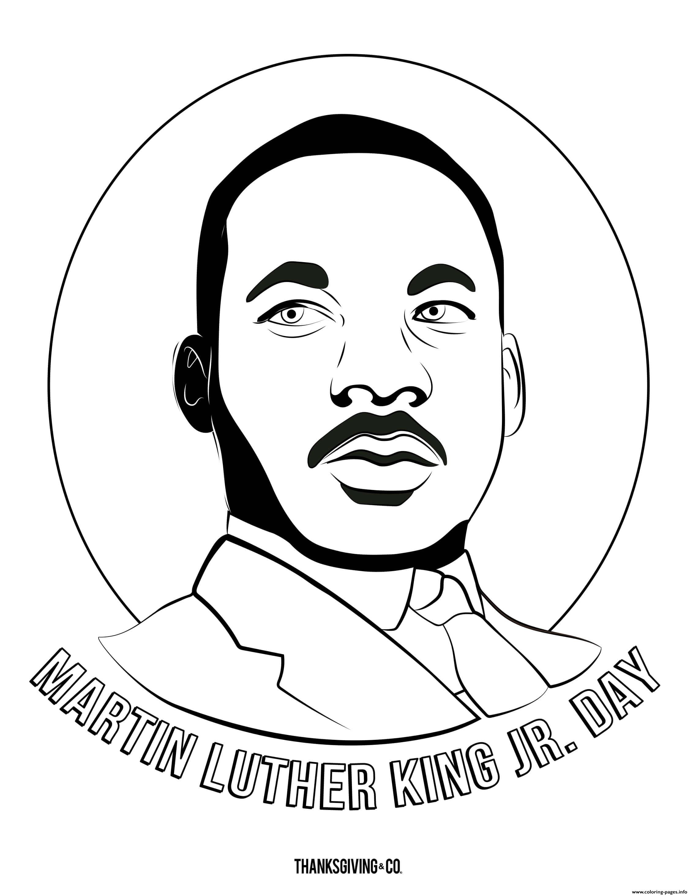Mlk Martin Luther King Jr Day Coloring Pages Printable
