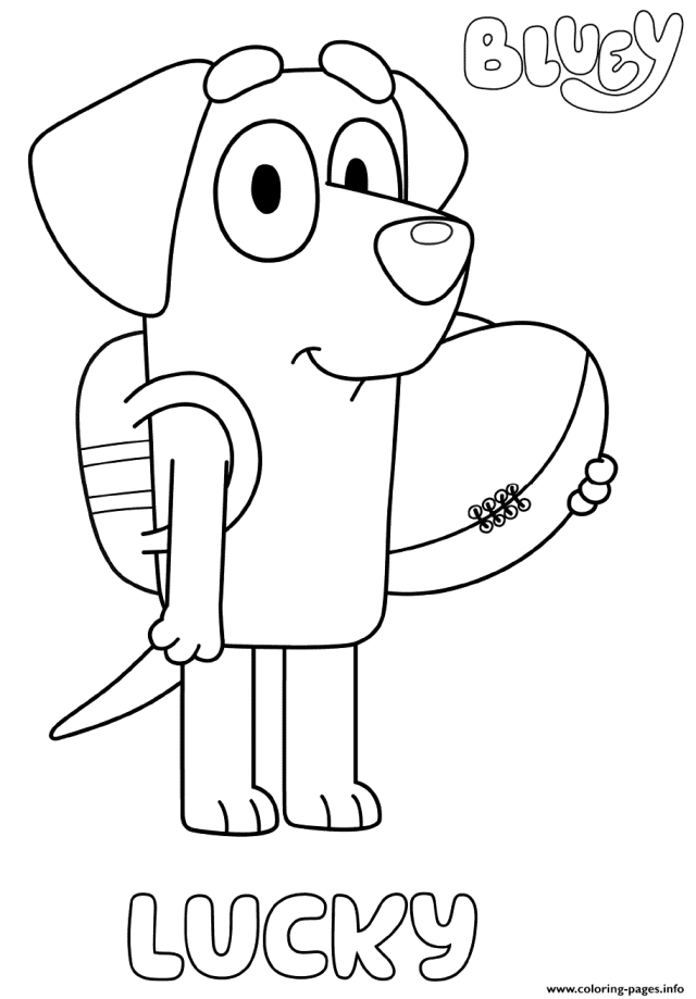 Labrador Lucky Coloring Pages Printable