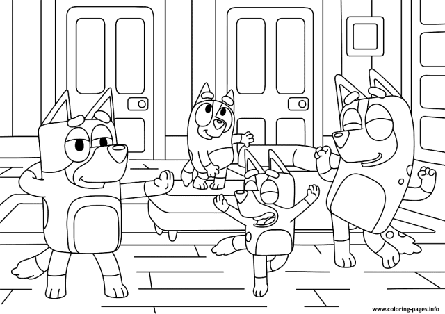 Bluey Coloring Pages Printable