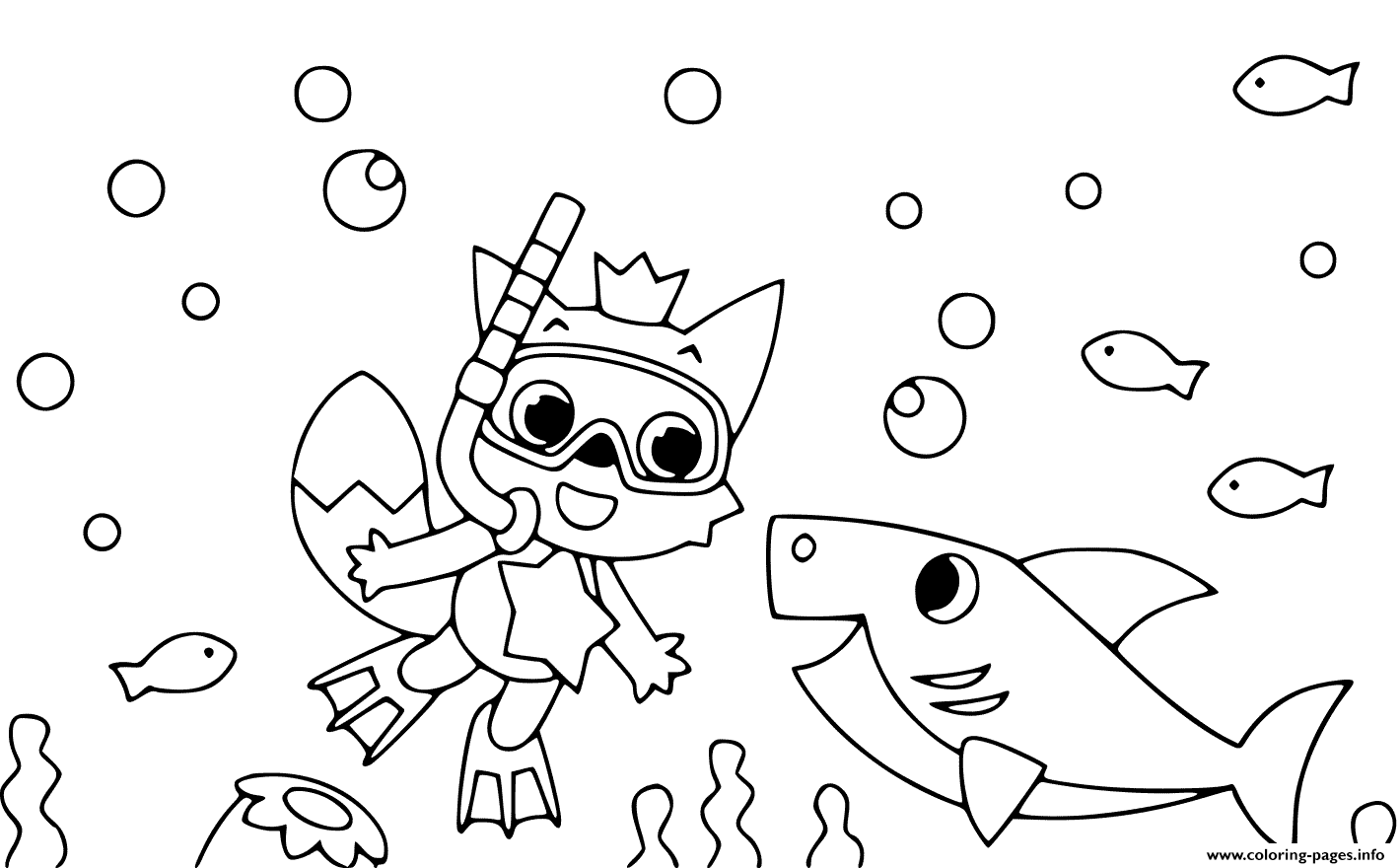 Baby Shark Coloring Pages To Print Novocom Top