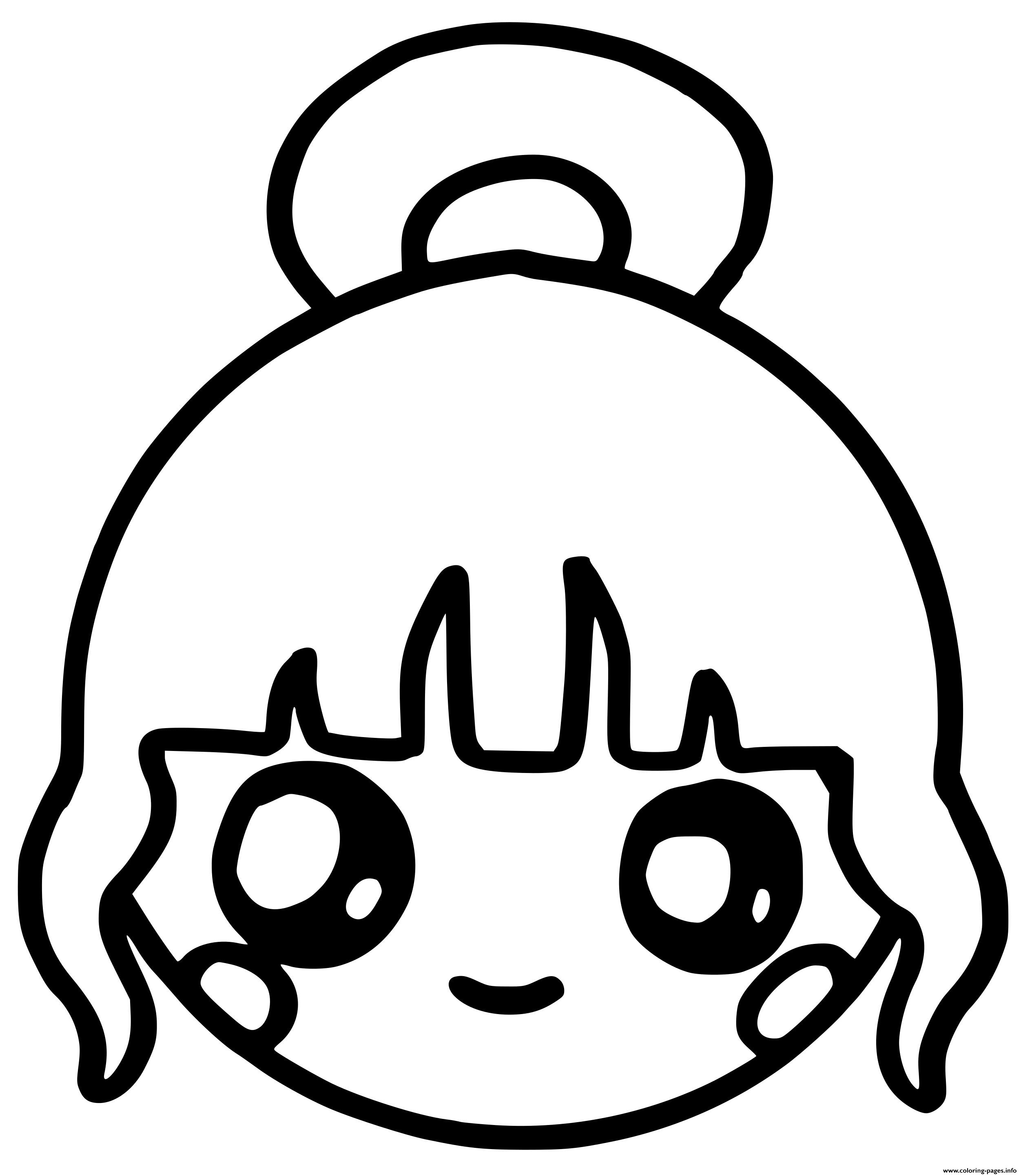 Cute Girl Kawaii Coloring Pages Printable