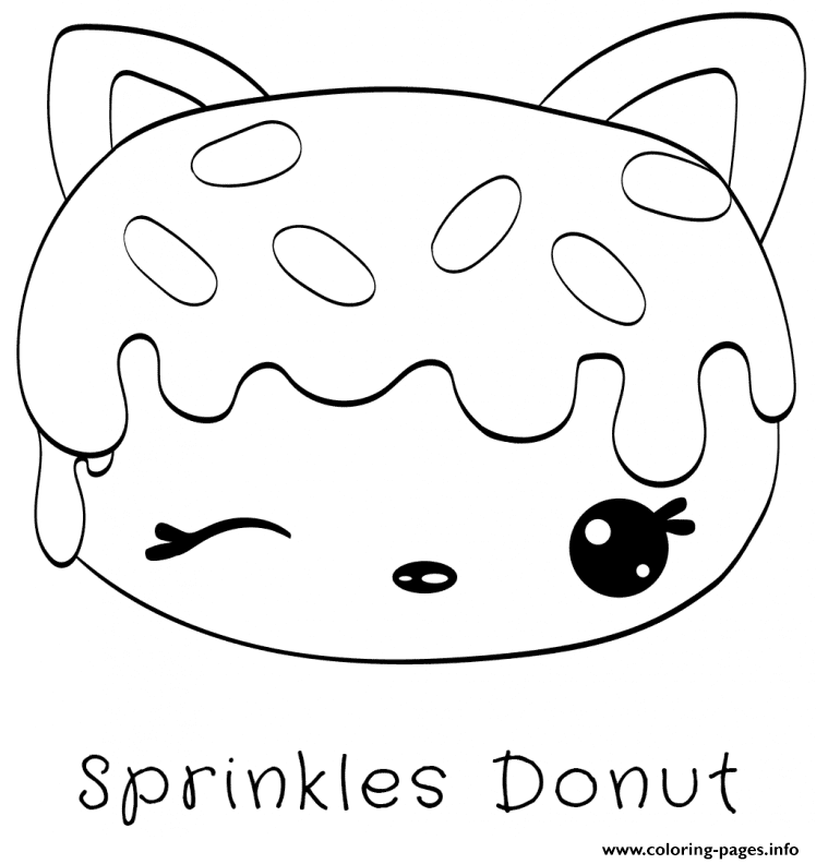 Sprinkles Donut Coloring Pages Printable