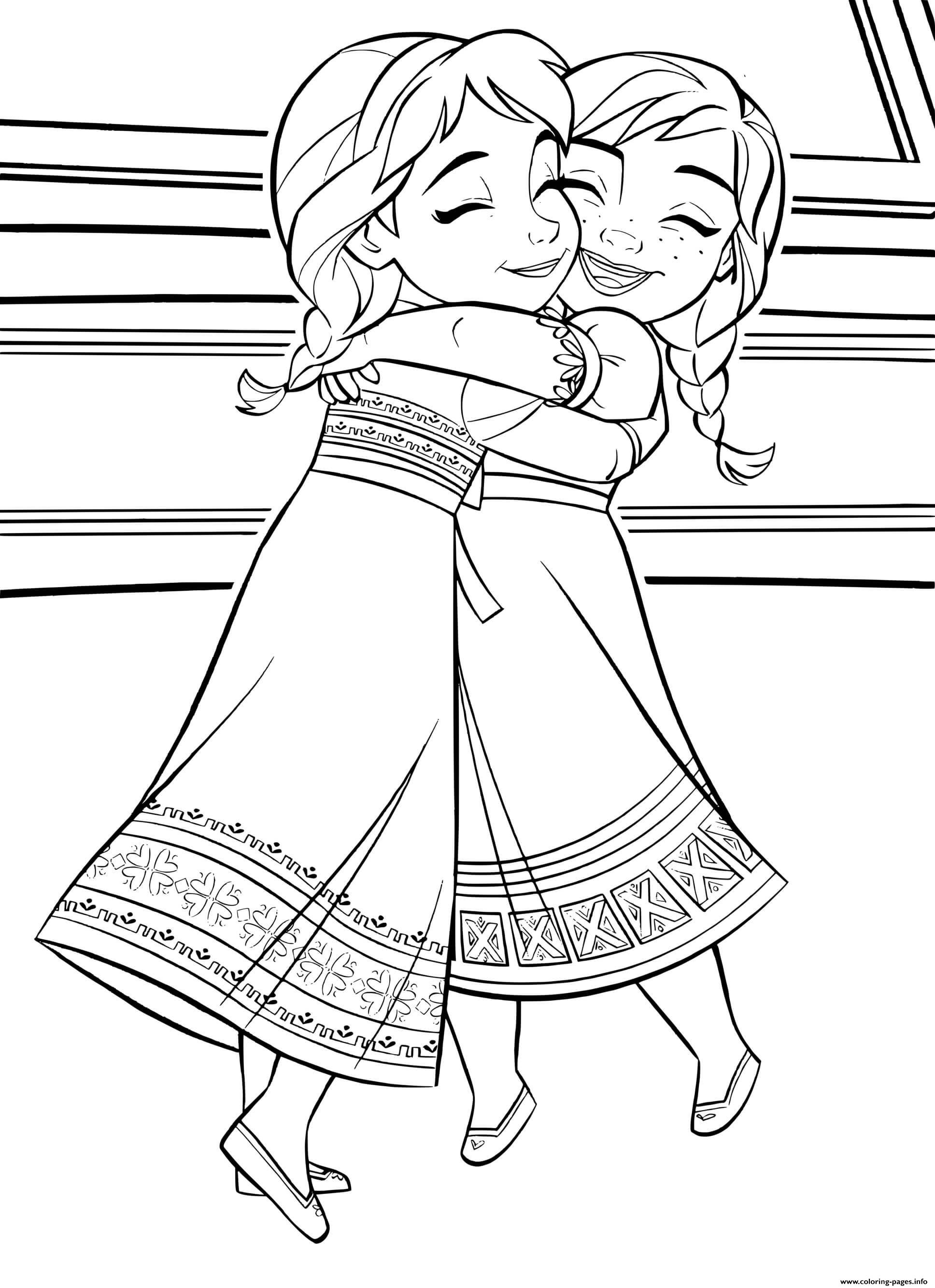 Choose a scene from your favorite nick jr. Baby Kids Elsa Anna Frozen 2 Coloring Pages Printable