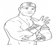 john cena coloring page pages wwe coloring pages free printable - John Cena Coloring Pages