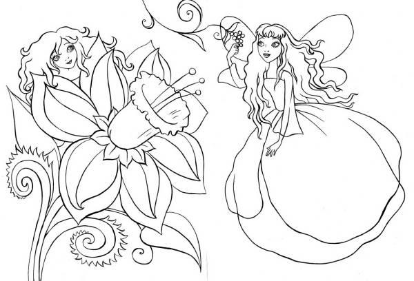 раскраски феи раскраски для девочек с феями мультфильмы