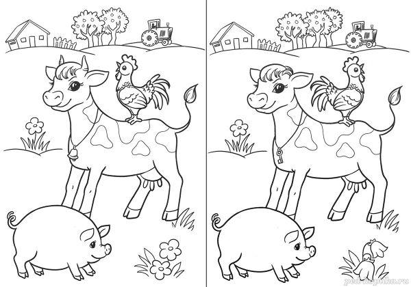 найди отличия раскраски развивашки развивающие раскраски ...
