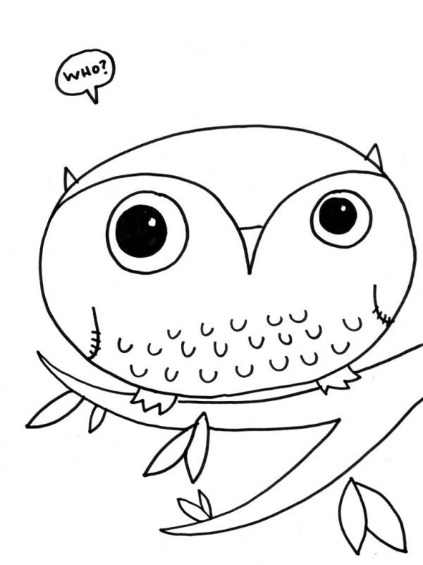 owl color pages # 47