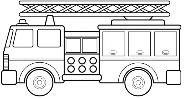 Fire Truck Coloring Pages Coloring Rocks