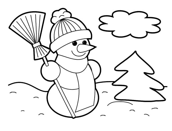 preschool christmas coloring pages # 52
