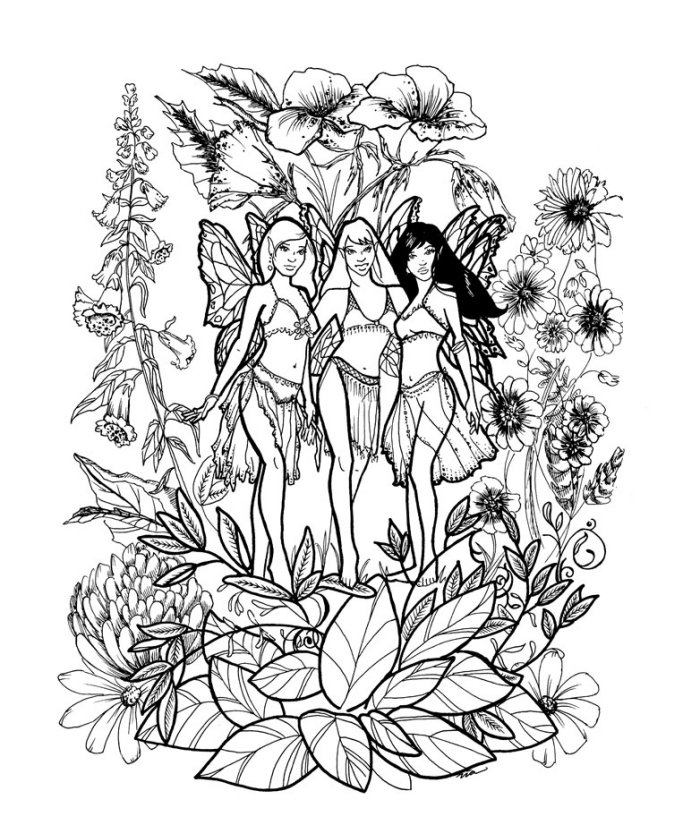 Fairy Coloring Pages Coloring Rocks