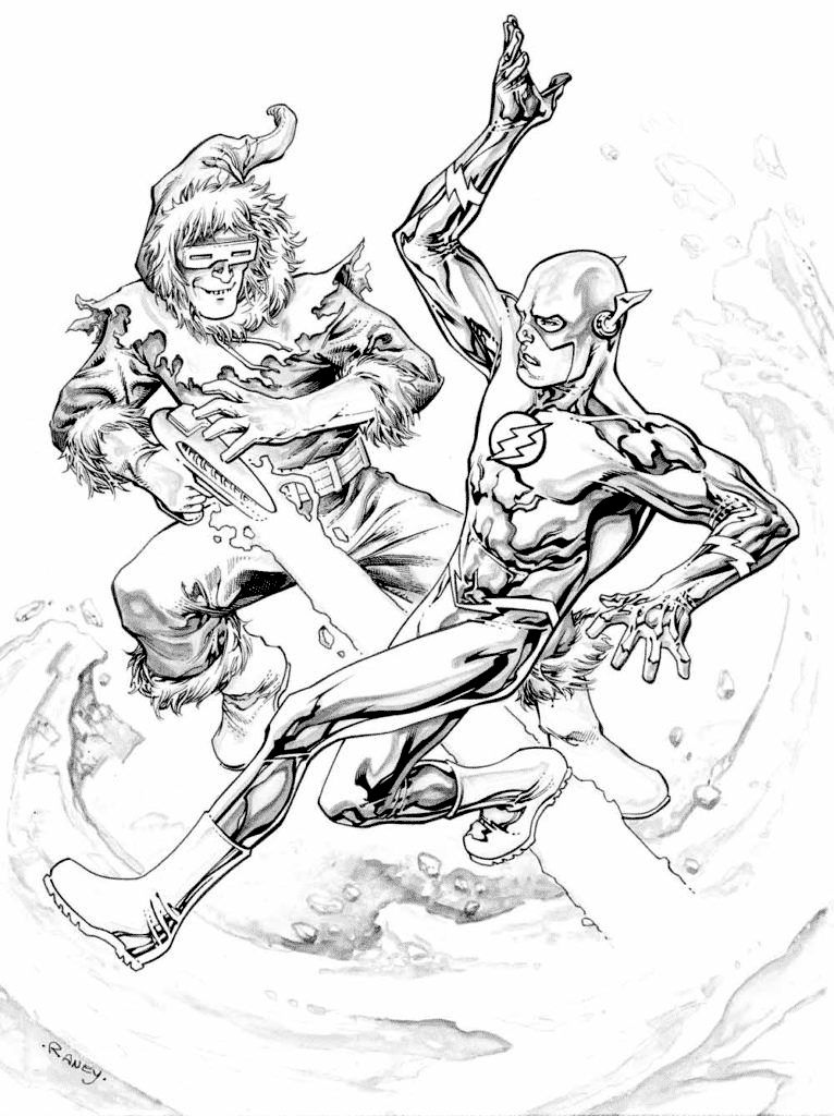 Flash V Captain Cold Coloring Page Coloring Rocks