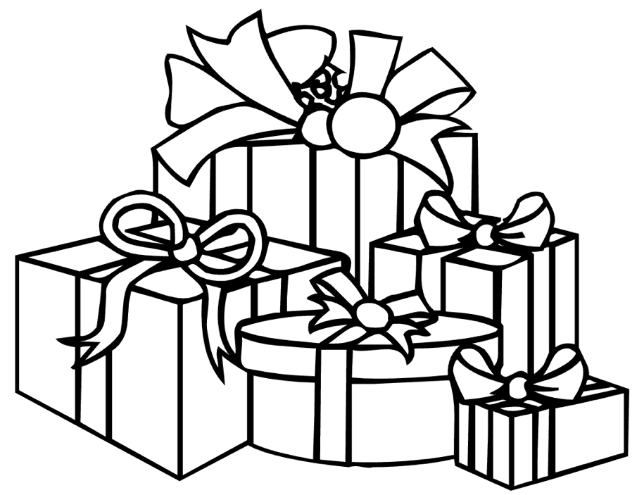 Presents Coloring Pages Coloring Rocks